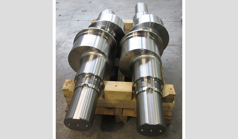 Eccentric shaft for walking beam lifting
